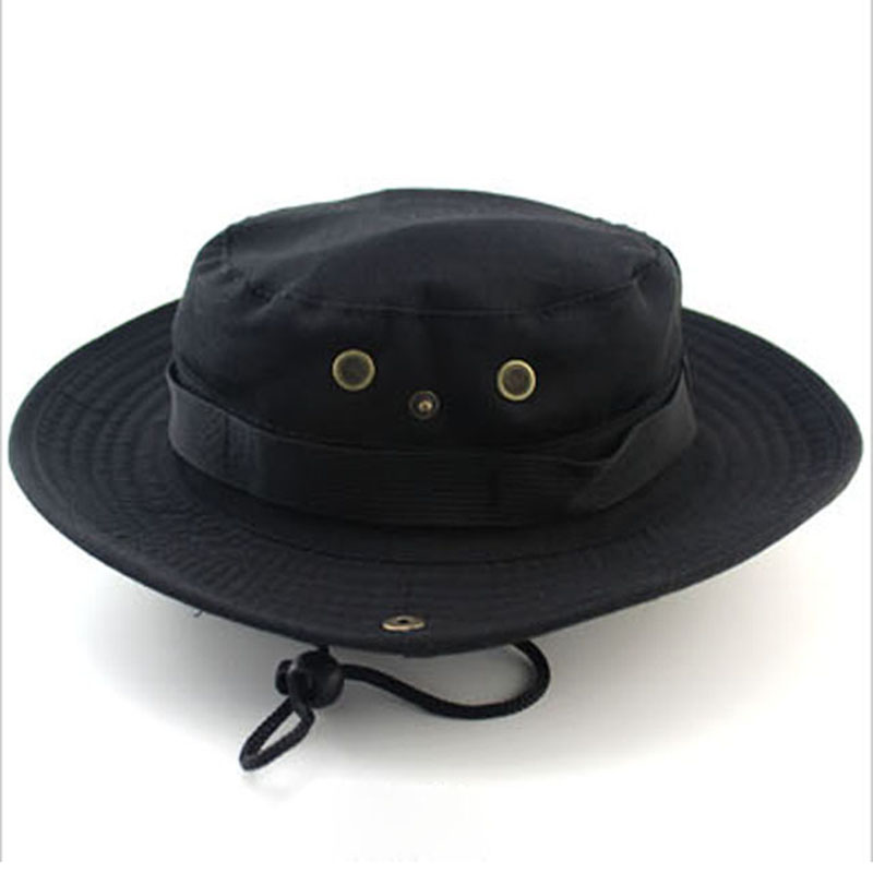 Men 39 s bucket hat wide brim hunting fishing camping boonie for Wide brim fishing hat