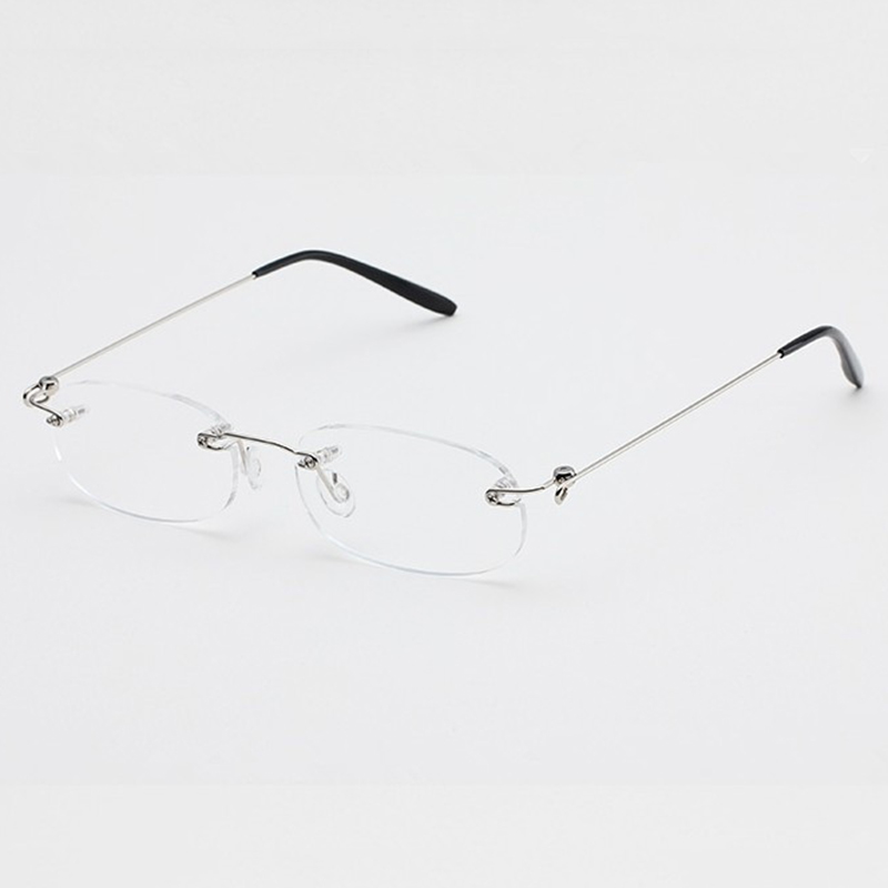 Rimless Eyeglass Frames Problems : Foldable Rimless Reading Glasses Reader Clear Eyeglasses ...