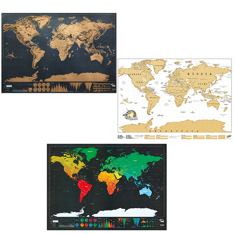 Scratch Personalized World Map Poster Travel Edition
