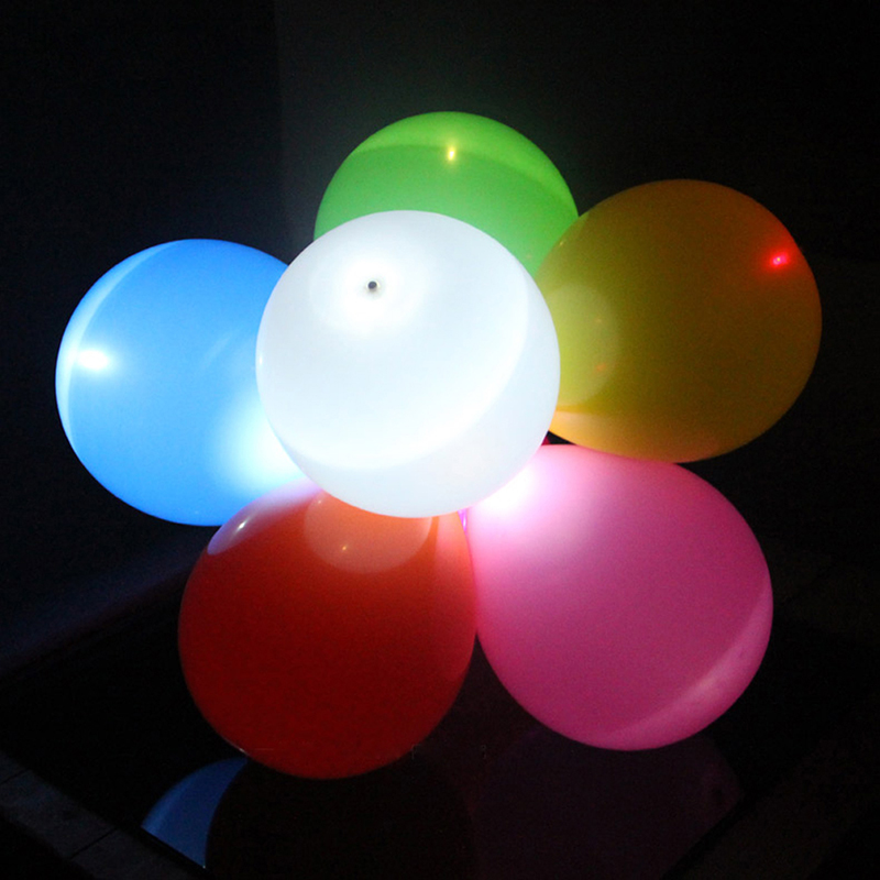 10pc colorful cool plastic mini bullet led balloon lamp light party decor ebay. Black Bedroom Furniture Sets. Home Design Ideas