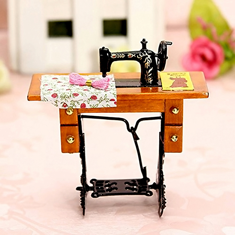 Vintage Miniature Furniture Sewing Machine For 1/12 Scale