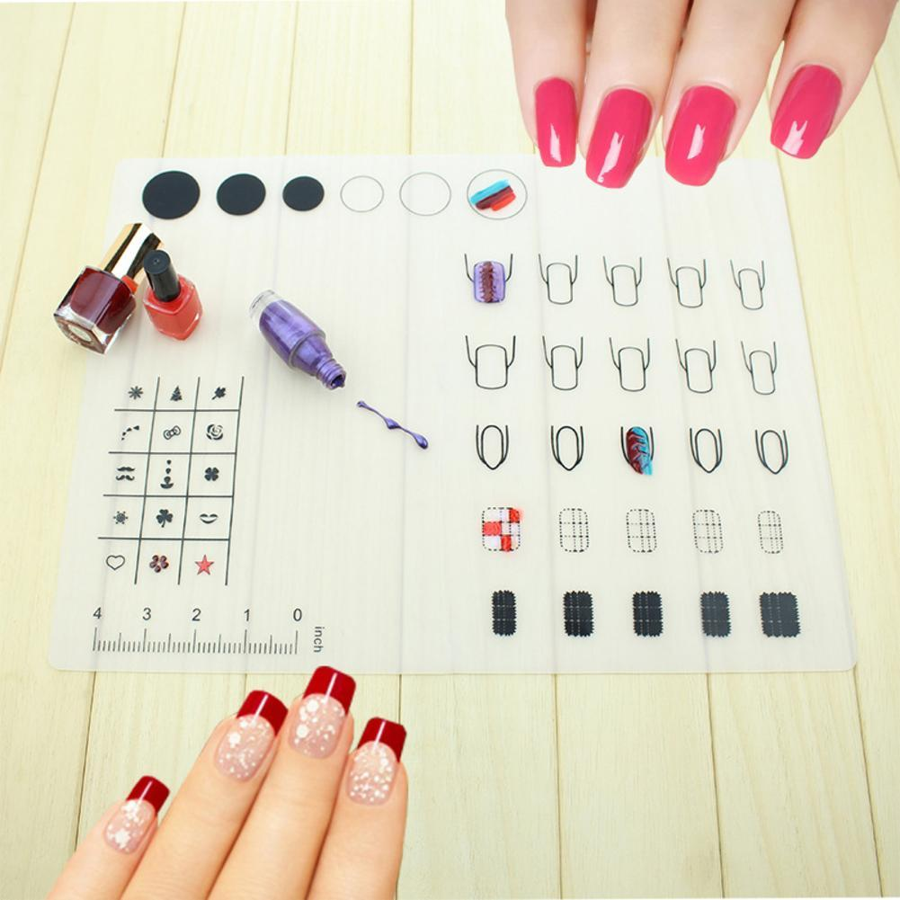 nail art soft silicone workspace stamping plate transfer mat sheet table 40x30cm ebay. Black Bedroom Furniture Sets. Home Design Ideas