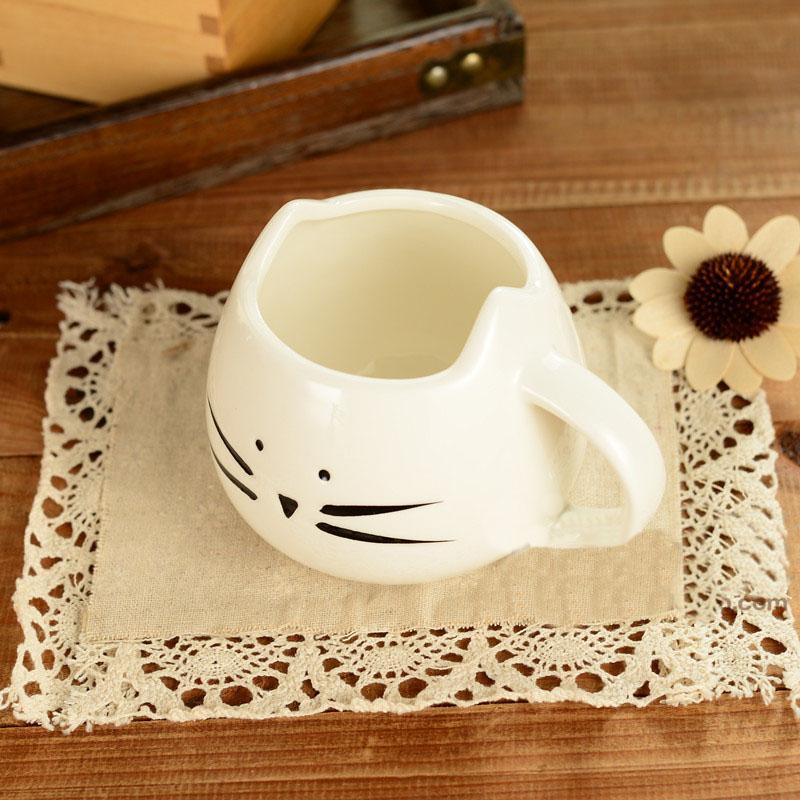 Funny cute cat shape ceramic coffee milk cup lovers mug for Funny shaped mugs
