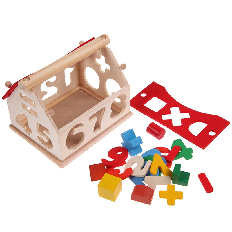 Wood Building Toys For Boys : Kids baby boys girls play games wooden digital number