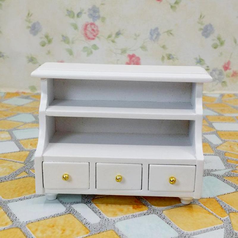 Dollhouse Miniature Furniture Wooden Toilet Bathroom Shelf Drawer Cabinet New Ebay