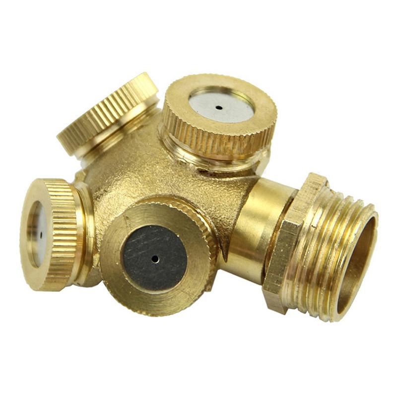 Hole brass spray misting nozzle garden sprinklers