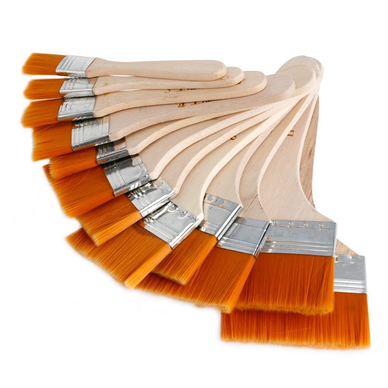 12pcs wooden acrylic oil painting brush set art artist for Acrylic mural paint supplies