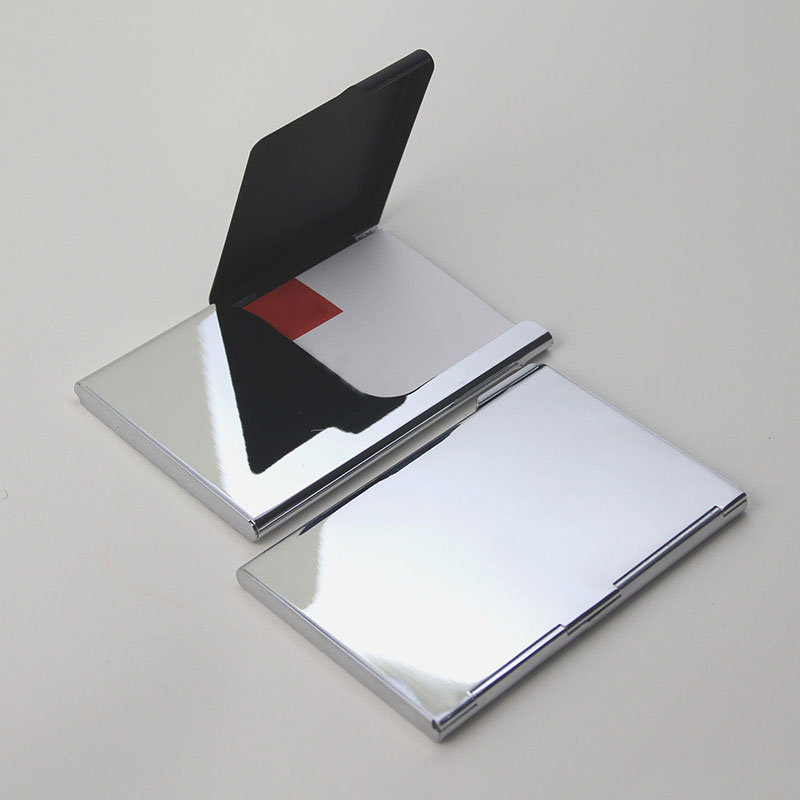 Silver Stainless Steel Business Card Holder Case Credit ID