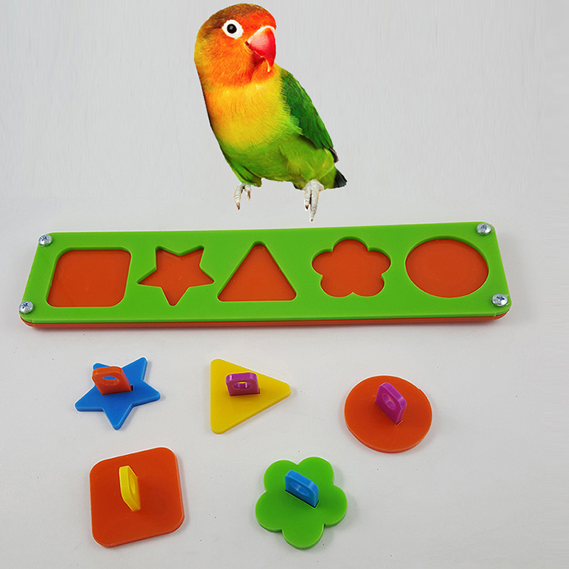 Toys For Biting : Pet bird puzzle building block chew bite toys cockatiel