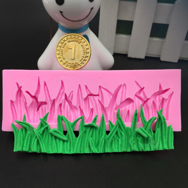 Cake Decorating Fondant Grass : Grass Silicone Mould Fondant Cake Decorating Clay Sugar ...
