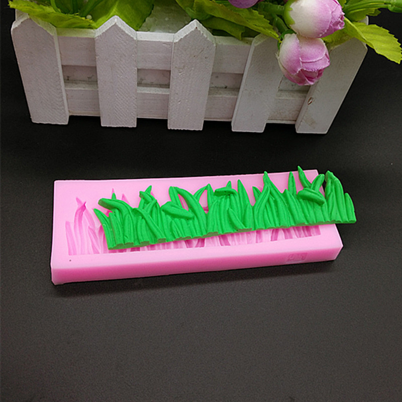 Cake Decorating Making Grass : Grass Silicone Mould Fondant Cake Decorating Clay Sugar ...