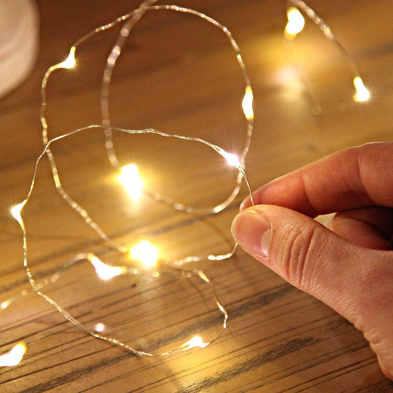 Starlight Led String Lights 10 Copper Wire : 10/20 LED Battery Powered Copper Wire Mini Fairy Light String Home Party Decor eBay