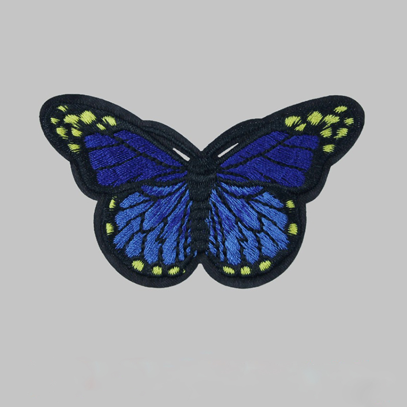 Cloth embroidery butterfly sew iron on patch badge