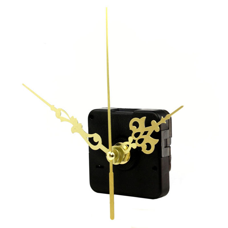 Quartz clock movement mechanism gold hands diy replace for Clock mechanisms for craft projects