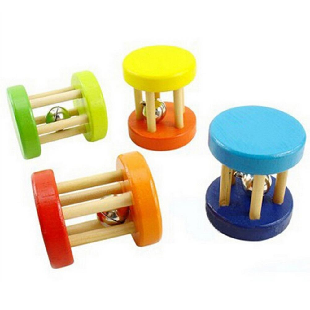 Toys For Exercise : Colorful natural pipe wooden dumbells bell roller rat