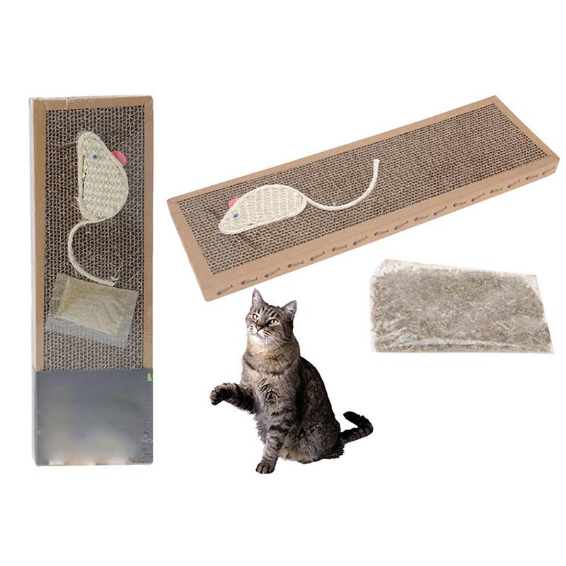 New cat pet scratching board scratcher mat post pole bed pad w catnip fun toys ebay - Cat bed scratcher ...