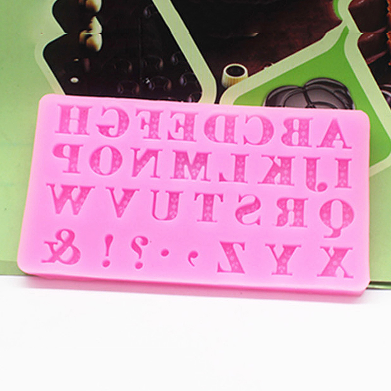 Cake Decorating With Letters : 3D Alphabet 26 Letters Silicone Cake Decorating Mold Sugar ...