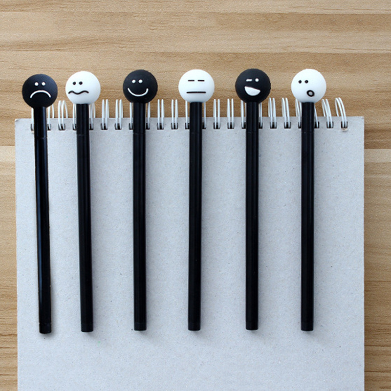 4pcs cute cartoon emoji rollerball roller ball gel pen for Emoji ink