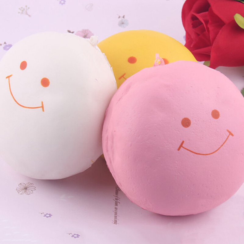 Squishy Bun Keychains : 9.5CM Smile Face Marshmallow Squishy Bread Keychain Bag Phone Strap Accessories eBay