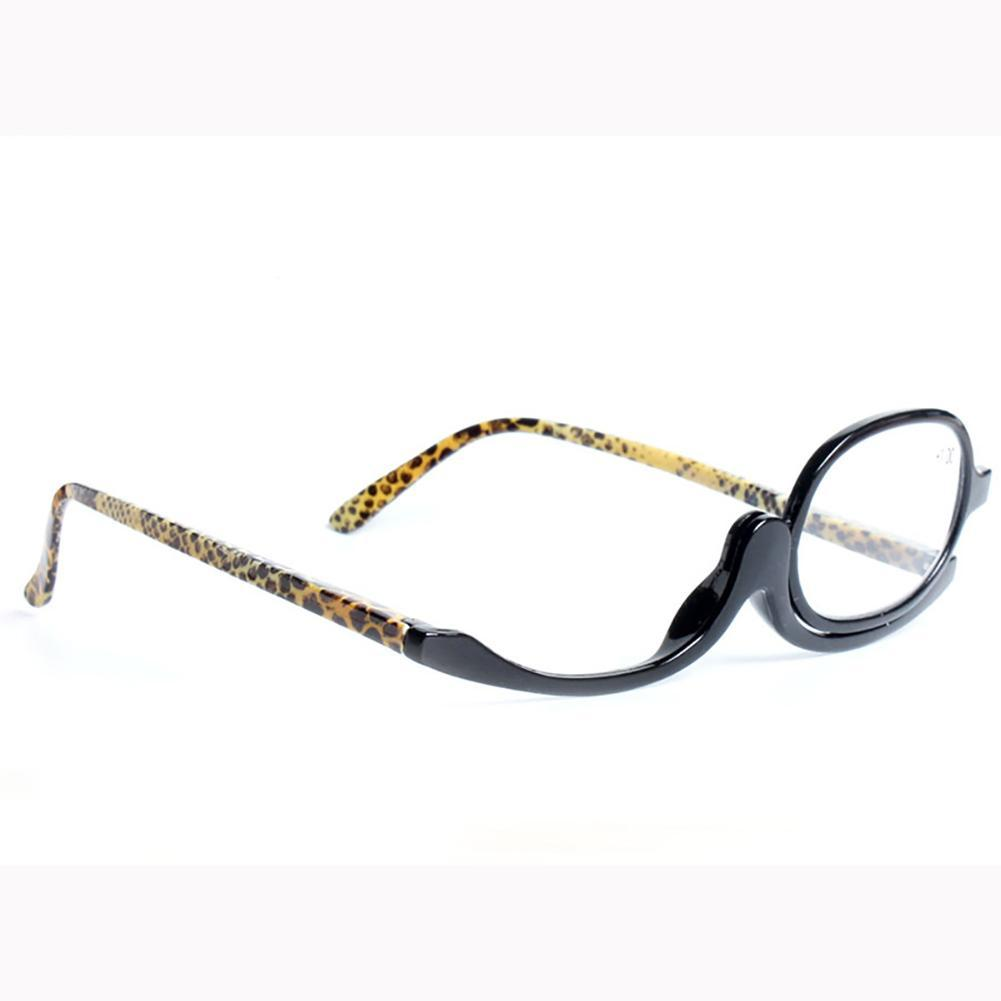 makeup use magnifying reading glasses flip eye
