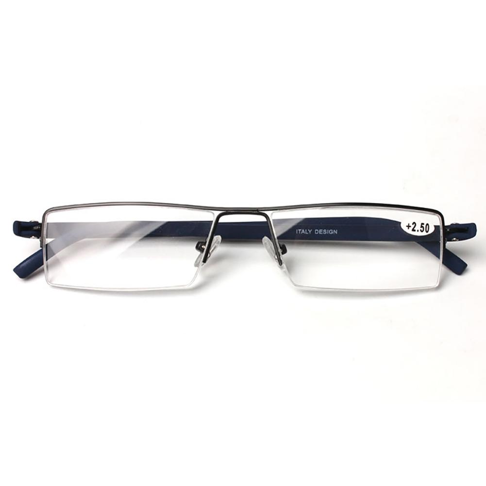 new designer half rimless reading glasses reader