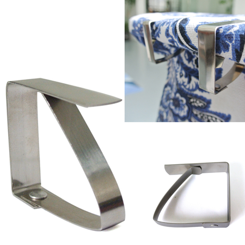 4pcs Stainless Steel Tablecloth Table Cover Clips Holder