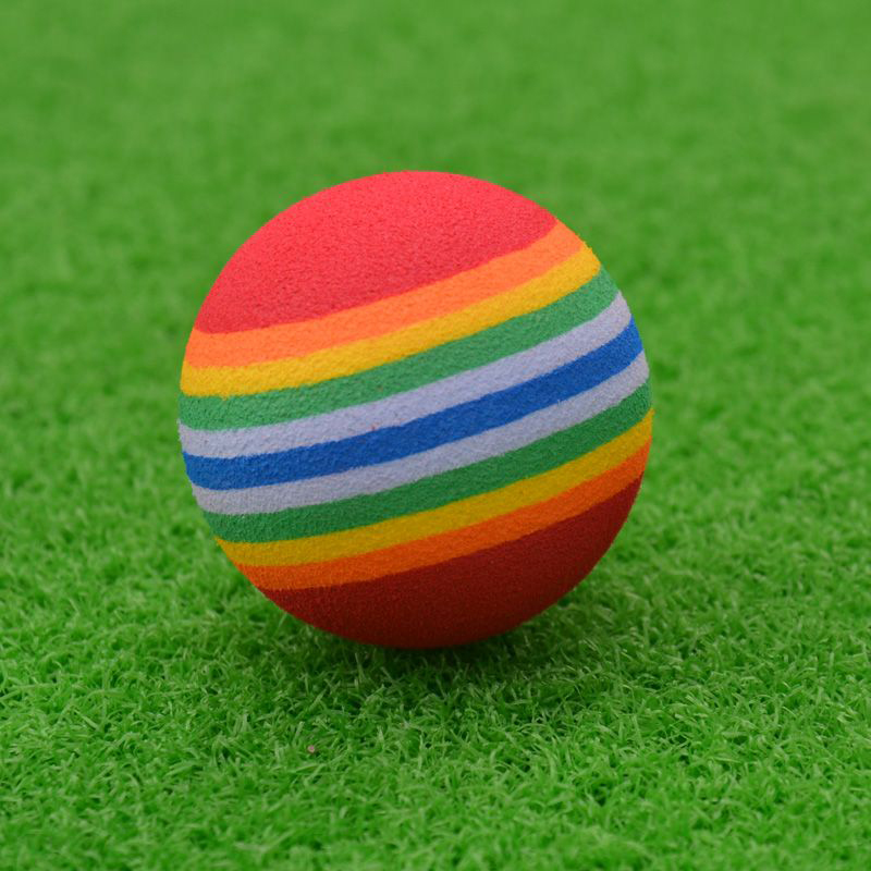 Little Ball Toys : Pcs cute rainbow toy ball small dog cat pet eva toys