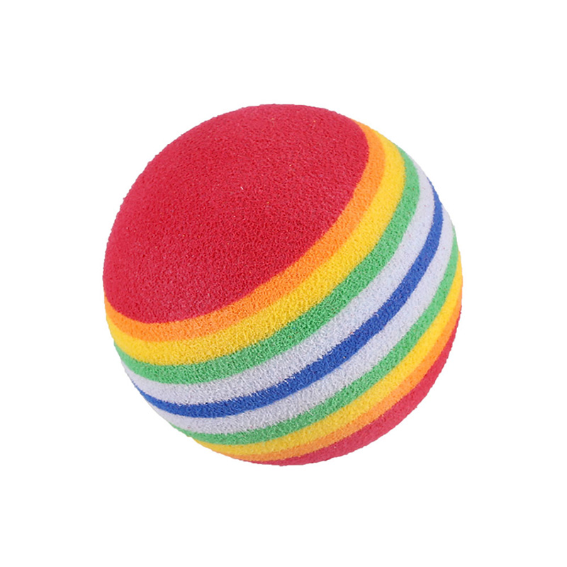 Small Toy Balls : Pcs cute rainbow small toy ball dog puppy cat pet eva