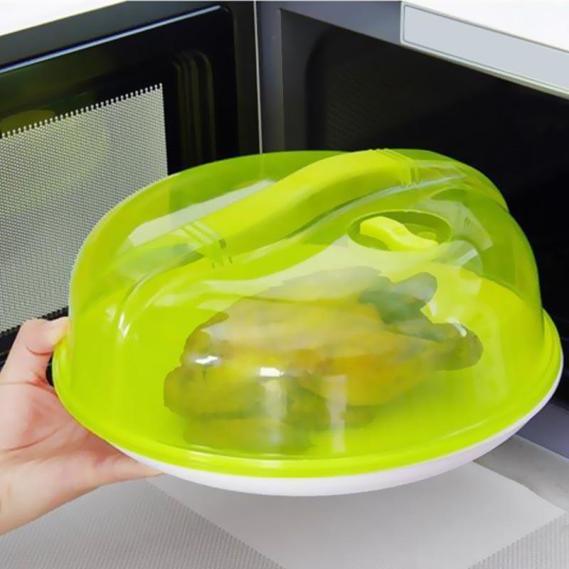 Food safe plastic microwave plate lid dish cover splatter