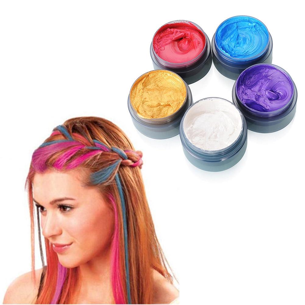 Unisex Diy Hair Color Wax Mud Dye Cream Temporary Modeling
