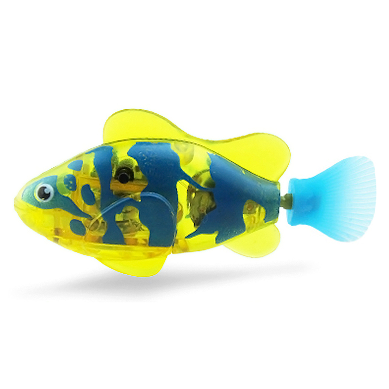 Creative kids electronic fish robot toy fish aquatic for Battery operated fish