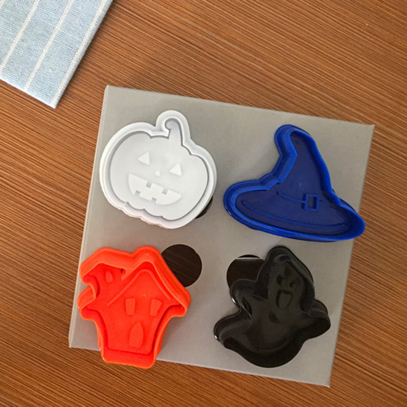 Fondant Cake Molds Uk : 4Pcs Halloween Pumpkin Plunger Chocolate Cake Cookie ...