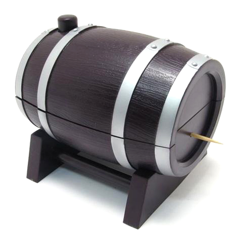 Kitchen wine barrel plastic automatic toothpick box container dispenser holder - Toothpick dispenser ...