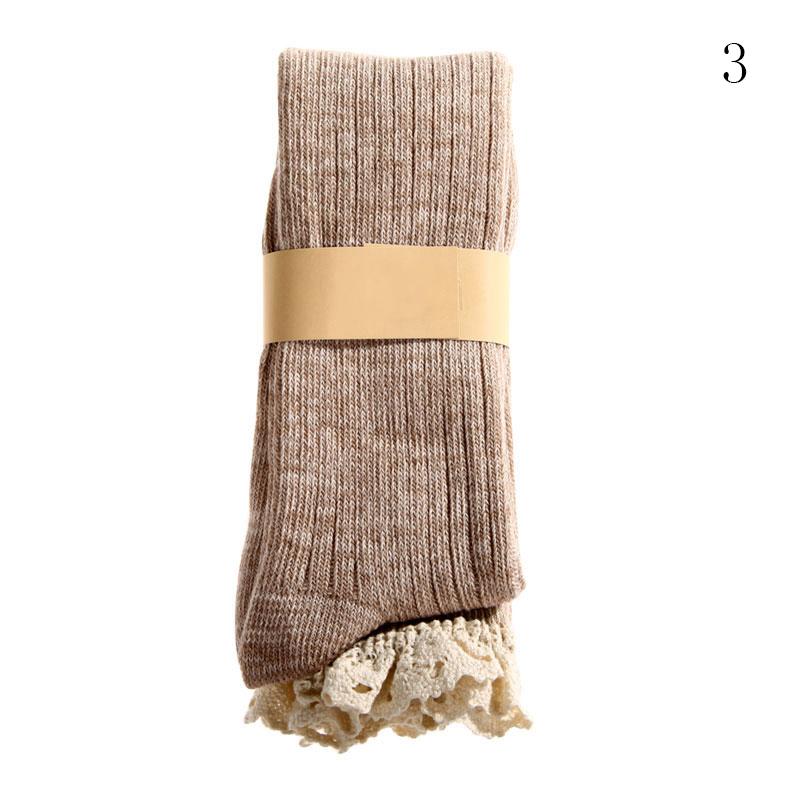 Crochet Knee High Socks : Womens Girls Crochet Lace Knee High Socks Cotton Boot Stockings Knit ...