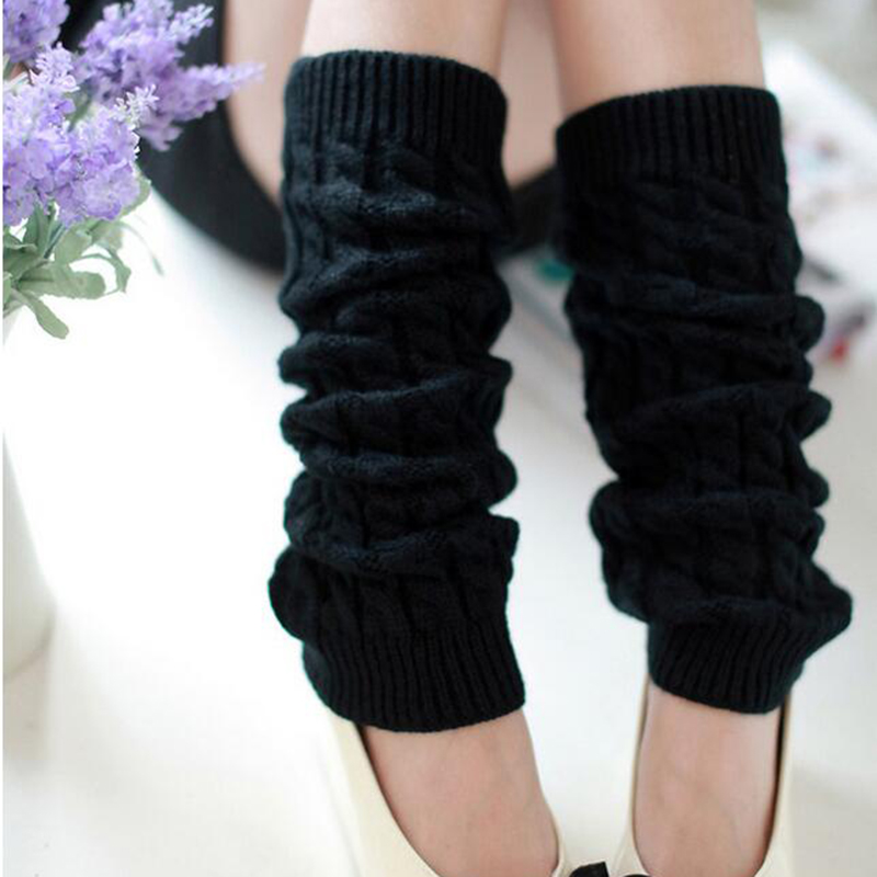 Womens Winter Warm Knitting Leg Warmers Crochet Leggings Slouch Boot Lon...