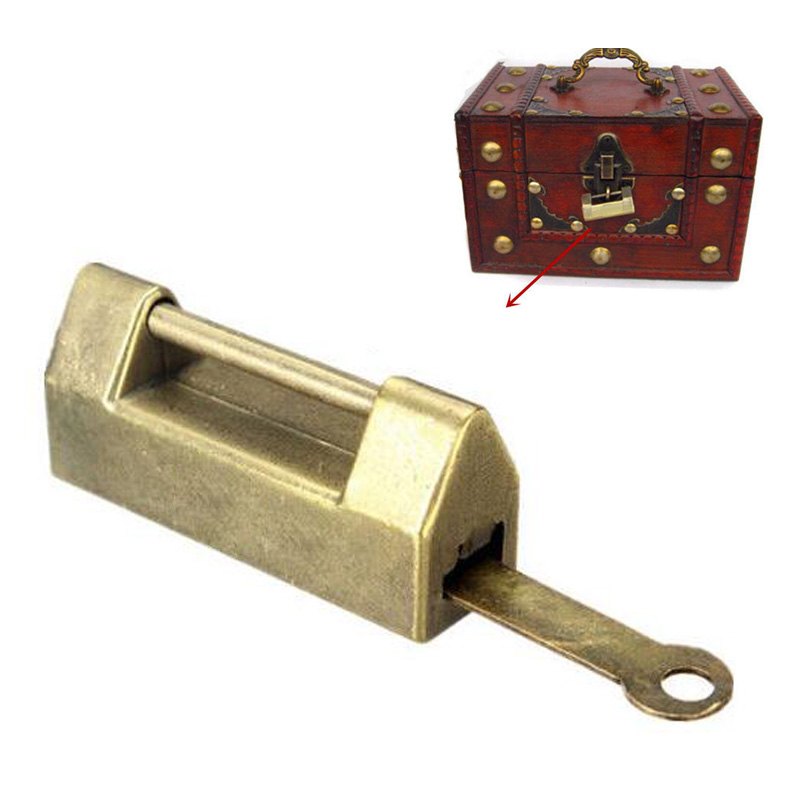 Chinese Traditional Retro Brass Jewelry Box Vintage Style ...