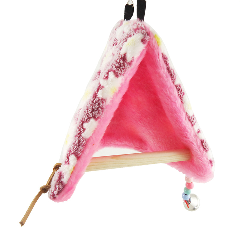 Bird Parrot Warm Fleece Hammock Perch Tent Hanging Swing