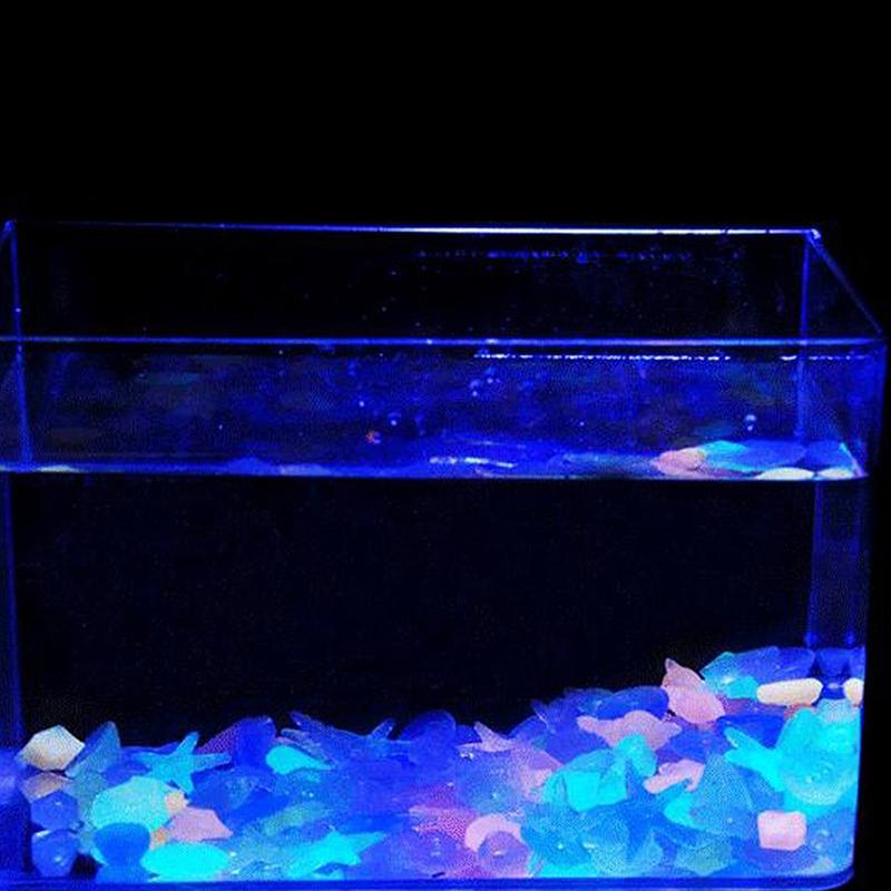 10pcs galet pierre cailloux brillant lumineux fluorescent for Vendeur aquarium