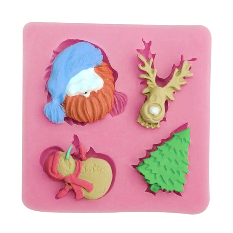 3D Christmas Tree Snowman Silicone Fondant Cake Mould ...