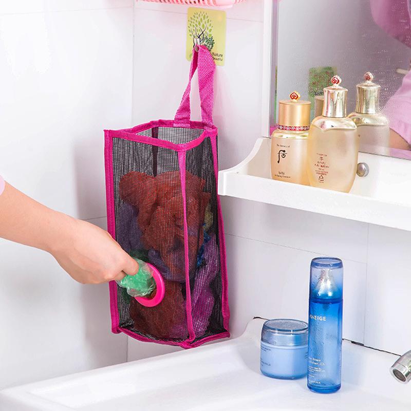 Breathable Mesh Hanging Kitchen Garbage Bag Storage
