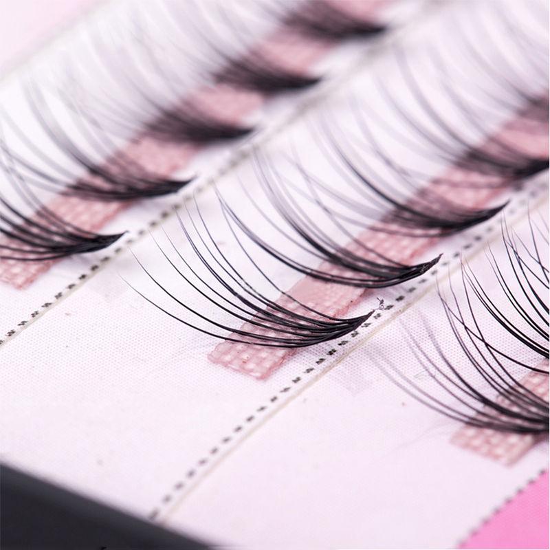 how to put on individual false eyelashes