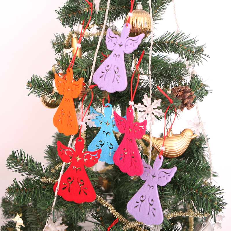 12pcs new colourful angel christmas xmas tree ornaments for Angel christmas tree decoration