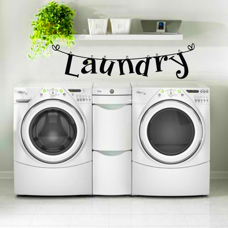 DIY Laundry Room Quote Wall Sticker Home Decor Vinyl Art ...