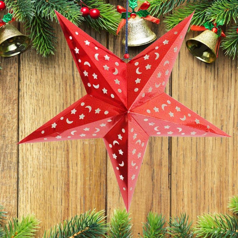 2016 xmas string hanging star festival party decoration christmas tree ornaments ebay - String ornaments christmas ...