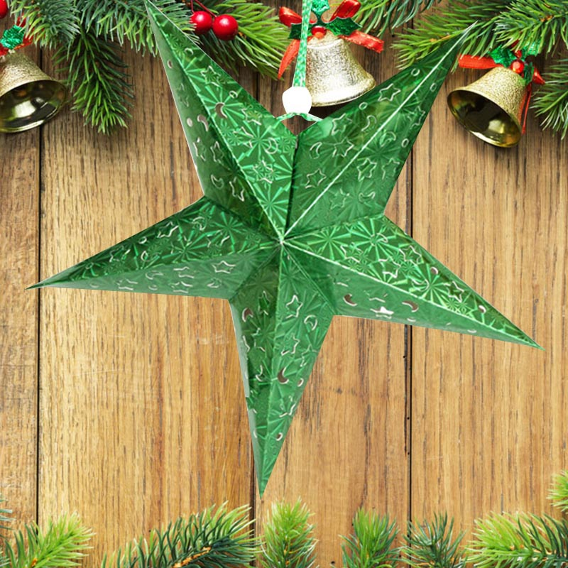 2016 new xmas string hanging star christmas party decoration home tree ornaments ebay - String ornaments christmas ...