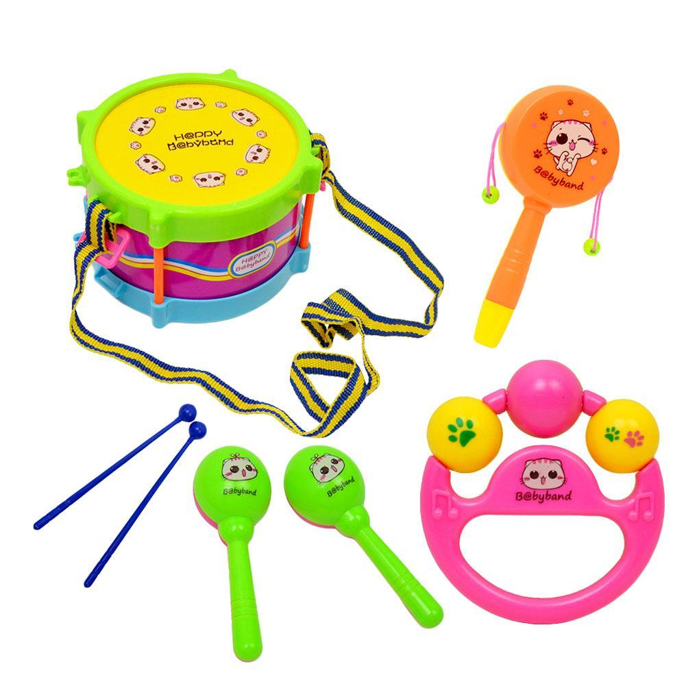 Boy Educational Toys : Pcs baby kids boy girl musical instruments drum set