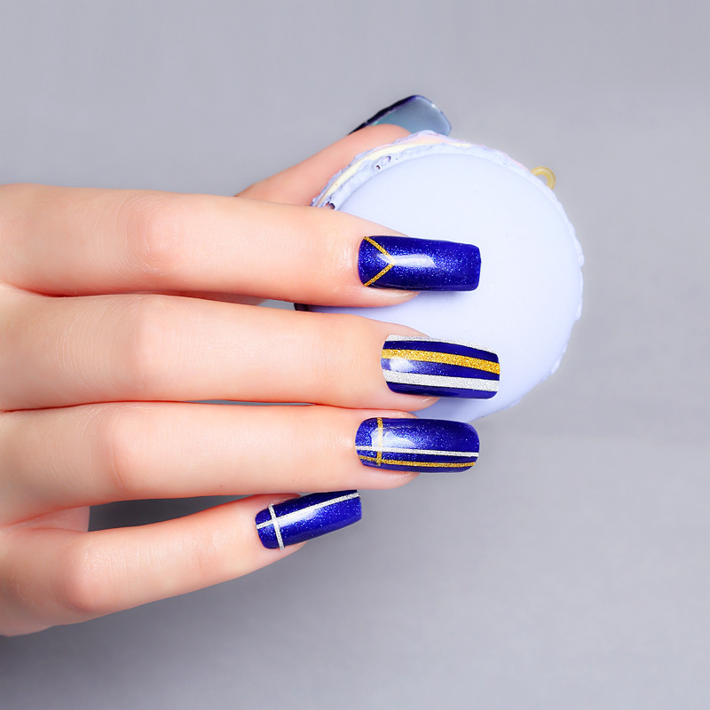 Striping Tape Line Nail Art: 1 Roll Gold Silver Striping Tape Line DIY Nail Art Tips