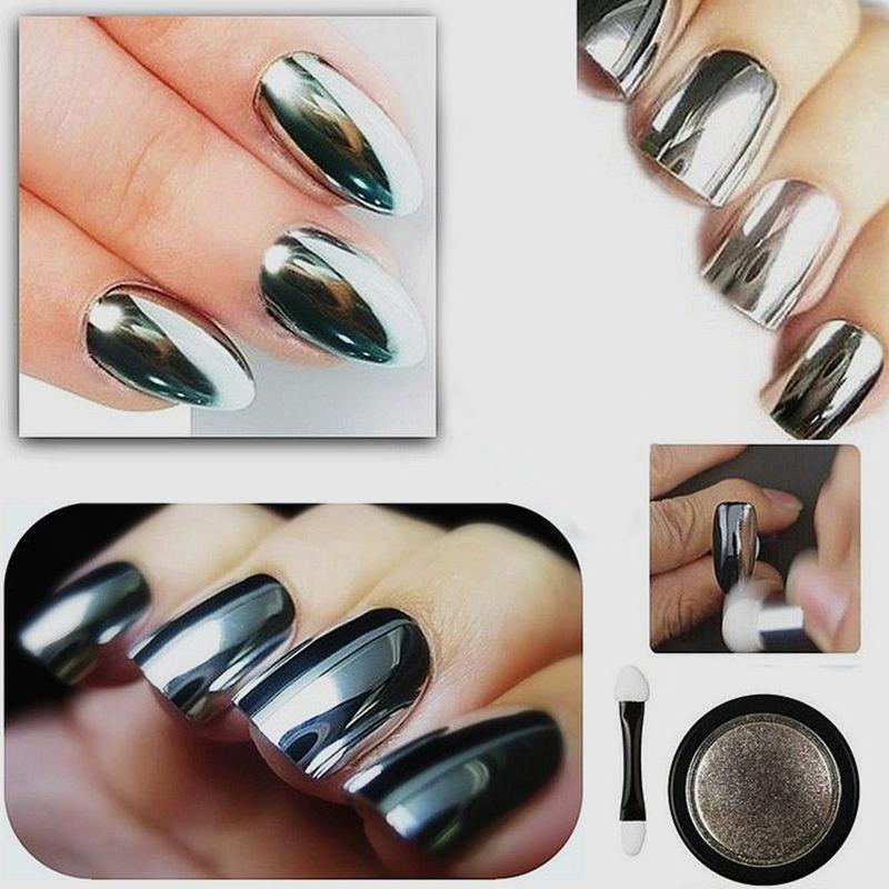 Chrome Nail Polish Usa: 5g Silber Nagel Pigment Puder Pulver Mirror Powder Nail