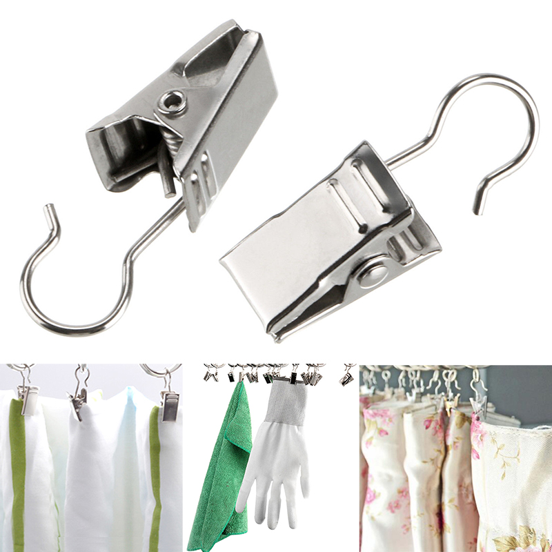 Curtain hook with clip