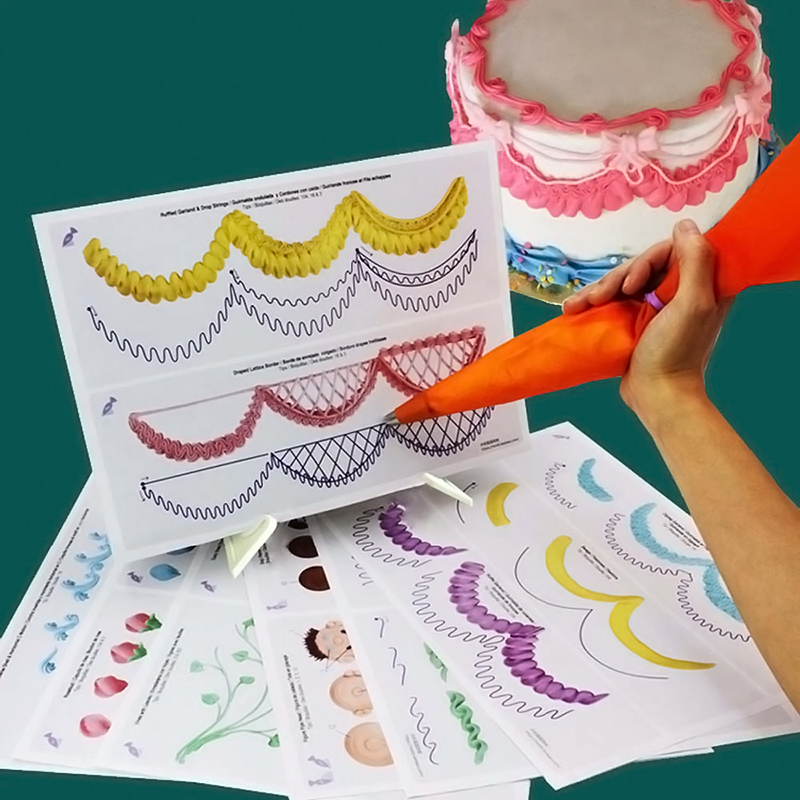 23 Sheet Cake Decorating Practice Board Icing Drawing ...